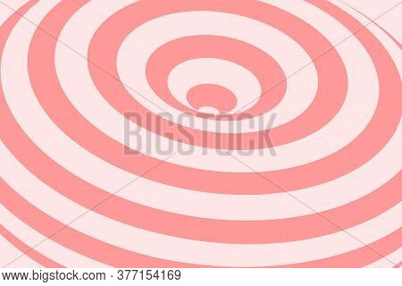 Abstract Illustration Of Vortex With Lines. Trendy 3d Background In Op Art Style, Optical Illusion.