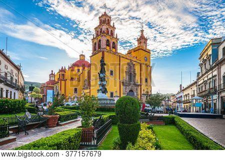 Facade Of Guanajuato Cateral In Mexico City, Mexico