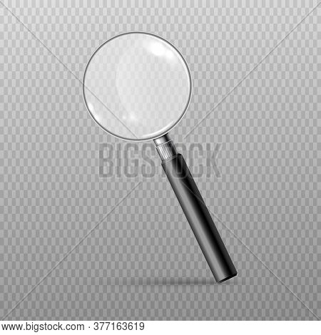 Magnifying Glass Or Loupe Single Icon Realistic Vector Illustration Isolated.
