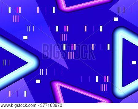 Cyberpunk Seamless Pattern. Retro Futurism Of The 80s. Signal Error, Pixel Mosaic. Computer Screen E