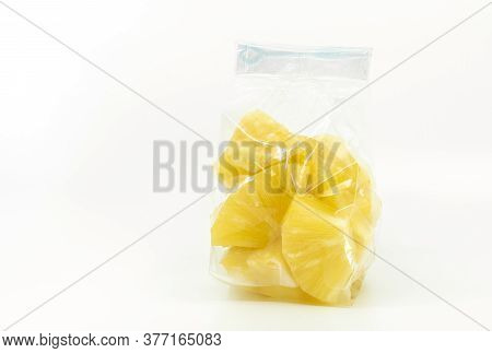 Pineapple In Cleared Plastic Bag