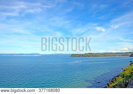 View Of The Adriatic Sea With Clear Beautiful Water On A Sunny Day