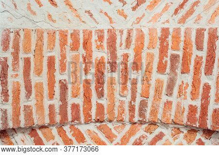 Old Brick Wall. Texture Of Old Brown And Red Brick Wall. Vintage Brick Wall Seamless Texture. Seamle