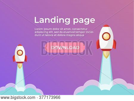 Landing Page Template. Website Template For Websites And Apps. Landing Page Vector Design Ui