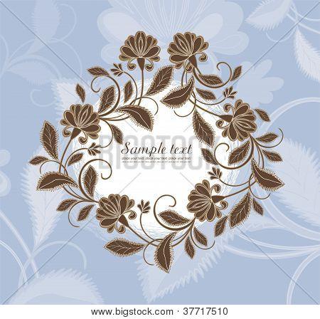 Vector flower frame