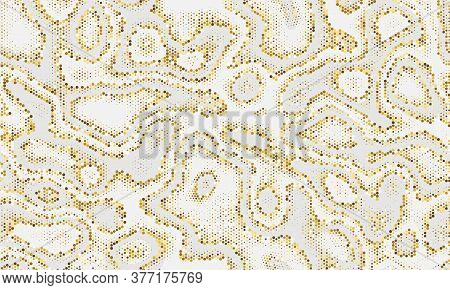 Yellow Seamless Glittered Graphic Art. Paint Graphic Golden Repeated Monochrome Vector Wallpaper. Or