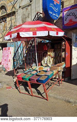 Al-mahwit / Yemen - 03 Jan 2013: The Local Market In Al-mahwit Village, Yemen