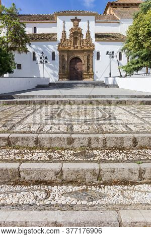 Mosaic Steps Of The Historic Santiago Church In Guadix, Spain