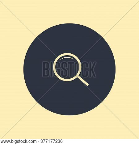 Search Icon Vector Symbol On Round Background
