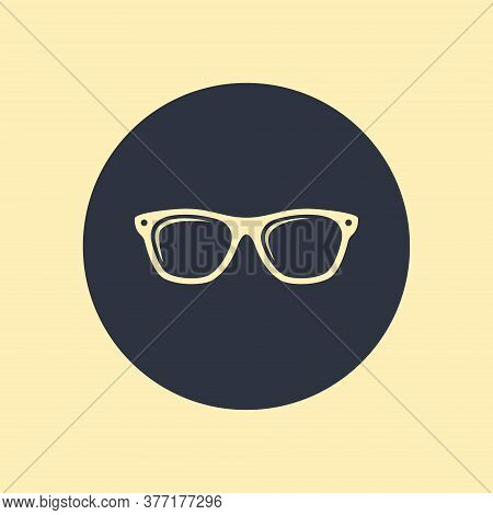Sunglasses Icon. Vector Symbol Summer Style On Round Background