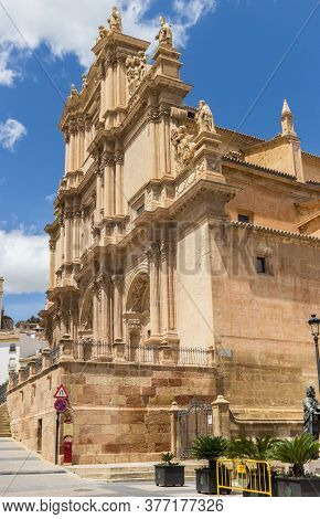Facade Of The Historic San Patricio Church In Lorca, Spain