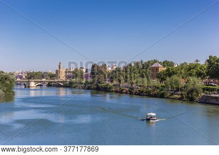 River Guadalquivir And View Over Sevilla, Spain