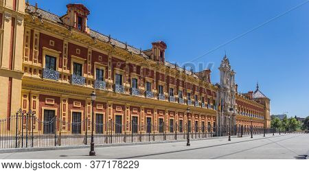 Historic San Telmo Palace In The Center Of Sevilla, Spain