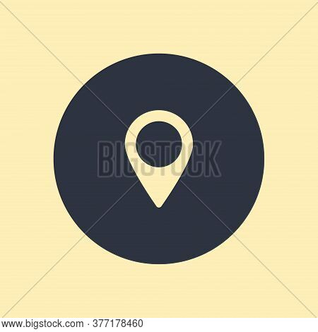 Vector Map Pointer. Icon Pin Set Rainbow. Vector Symbol On Round Background