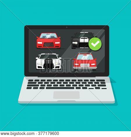 Car Auto Auction Online On Laptop Computer Or Pc Rental Vehicle Internet Shop Website Comparison Wit
