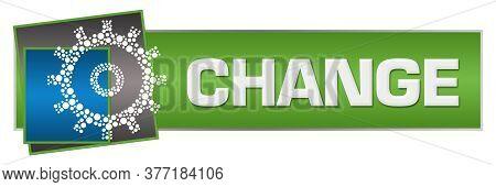 Change Text Written Over Blue Green Background.