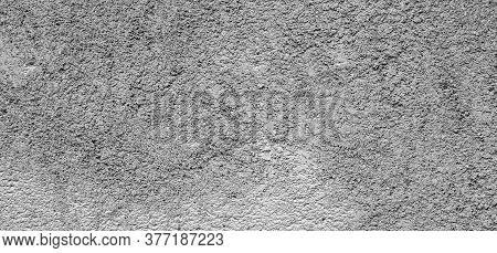 Old Gray Concrete Wall. Concrete Texture, Closeup. Background Texture Of Modern Gray Concrete Wall.