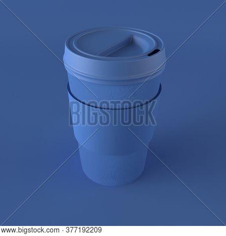 3d render of trakeaway Coffee Cup