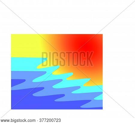 Abstract Full Color Background Wave And Sun Gradation, Modern Texture Background, Color Gradation El