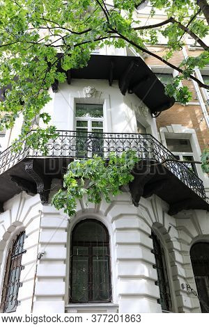 Balcony Of Old Apartment Building
