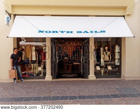 Rome, Italy - July 27, 2015. North Sails Clothing Store In Rome, Italy. North Sails Is An Internatio