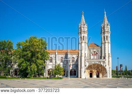 Jeronimos Monastery Or Hieronymites Monastery In Lisbon, Portugal