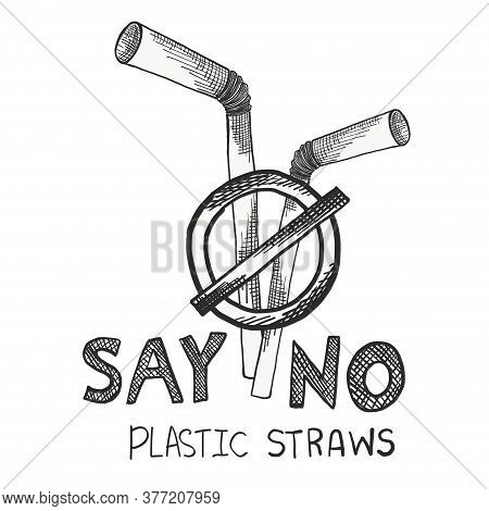 Stop Using Plastic Straws, Stop Plastic Pollution-reduce, The Refusal Of Disposable Plastic Drinking