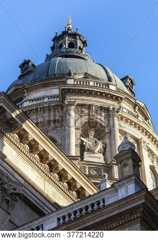 Dome Of St. Stephens Basilica In Budapest, Hungary