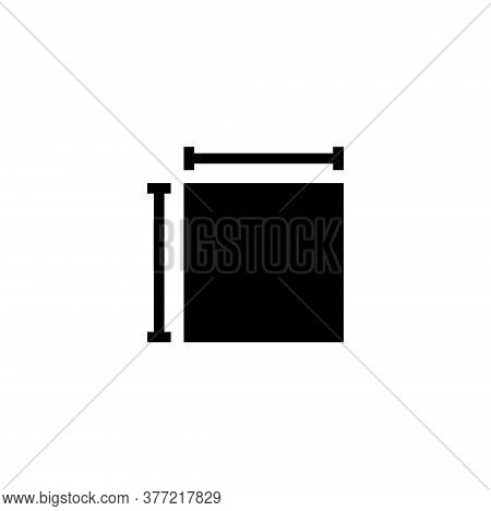 House Room Plan, Architectural Project. Flat Vector Icon Illustration. Simple Black Symbol On White
