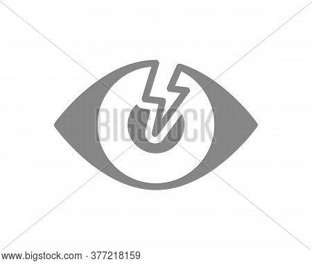 Human Eye With Acute Pain Grey Icon. Visual Organ Disease Symptom, Blindness Symbol