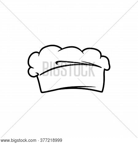 Toque Blanche, Cookers Original Headwear Isolated Icon. Vector Chef Hat, Cooks Cap