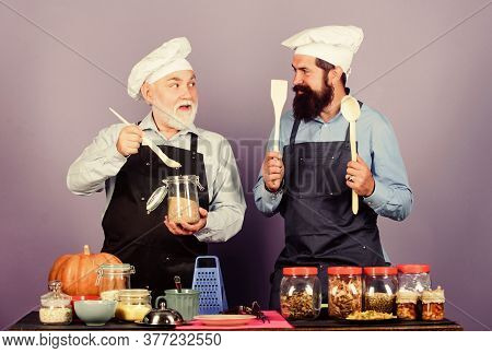 Natural Ingredients. Delicious Recipe. Chef Men Cooking. Kitchen Team Prepare Food. Healthy Food. Ma