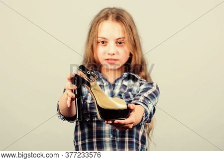 Shoes Shop. Fashion Store. Play With Moms Shoes. Every Girl Dreaming About Fashionable High Heels. L