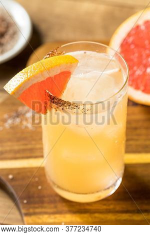 Refreshing Boozy Mezcal Spicy Paloma