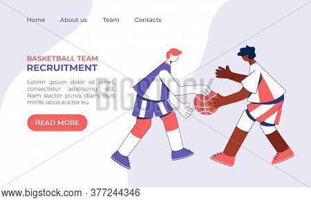 Teenage Boys Playing Basketball Concept. Young Men Training Dribble.