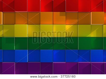 Abstract background image of LGBT cubes