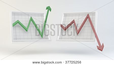 Graphs going up and down