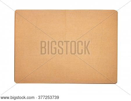 notepad or notebook paper at white background, top view