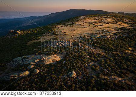 Landscape In Sierra De Tormantos Near Piornal. Extremadura.