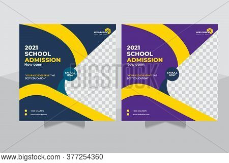 Admission Social Media Post, Education ,advertisement Back To School Admission Promotion Social Medi