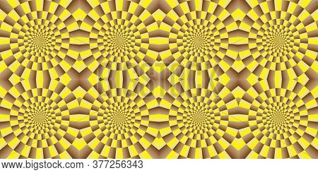 Illusion - Spinning Background. Abstract Background, Seamless Pattern, With Optical Illusion Effect.