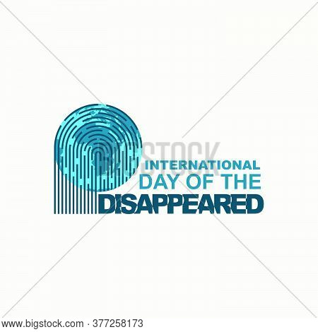 International Day Of The Disappeared Design With Fingerprint Design On Earth.