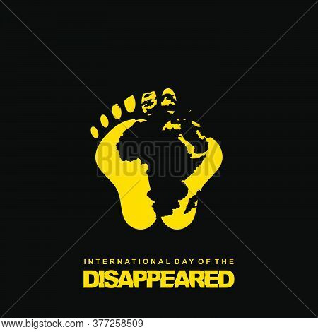 International Day Of The Disappeared Design With Footprint And Earth Vector Illustration