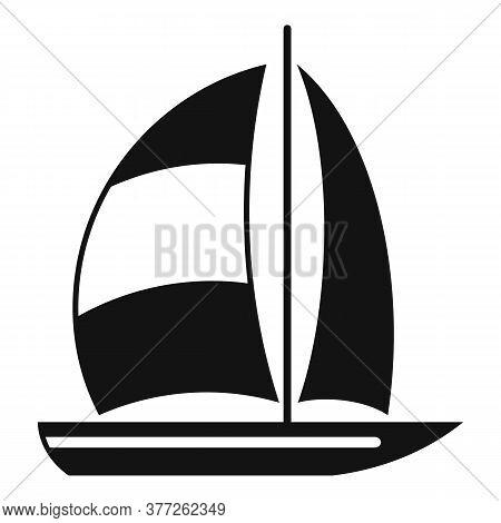 Dubai Yacht Icon. Simple Illustration Of Dubai Yacht Vector Icon For Web Design Isolated On White Ba