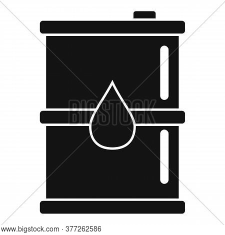 Oil Barrel Icon. Simple Illustration Of Oil Barrel Vector Icon For Web Design Isolated On White Back