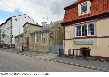 Mikolajki, Poland, July 12: Street Of Old Town On July 12, 2020 At Mikolajki, Poland. Mikolajki Is A