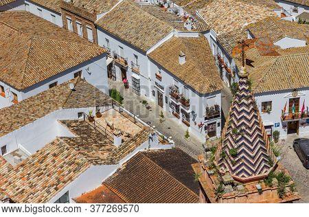 Tower Of The Santa Maria De La Mesa Church In Zahara, Spain