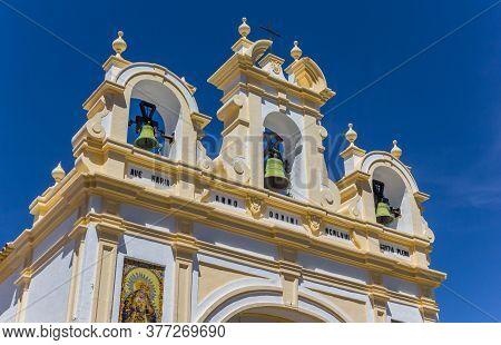 Bells At The Facade Of The San Juan Church In Zahara, Spain