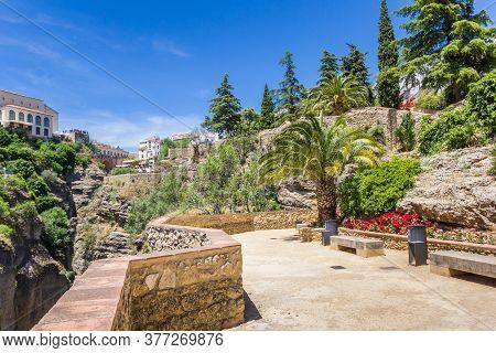 Jardines De Cuenca Gardens In Historic City Ronda, Spain