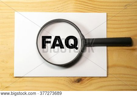 Frequently Asked Questions, Concept Of Faq Magnifier